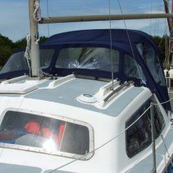 Hirondelle Catamaran, Harmony Sprayhood recover_2