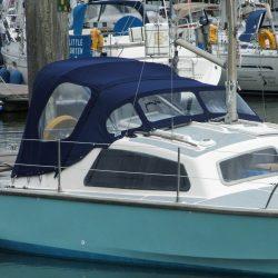Hirondelle Catamaran, Harmony Sprayhood recover_3
