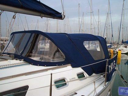 Jeanneau Sun Odyssey 37 Sprayhood shown with optional Cockpit Enclosure_1