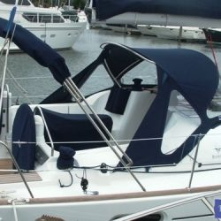 Jeanneau Sun Odyssey 39i Sprayhood with optional wing extensions and side windows_5