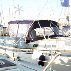 Moody 36cc Sprayhood, with optional bimini and Bimini Conversion_1