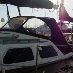 Oyster 435 Sprayhood recover, Aithina in Sunbrella Supreme_1