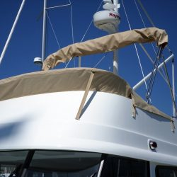 Beneteau Swift Trawler ST 34, Flybridge Tonneau Cover shown with optional Bimini fitted_5