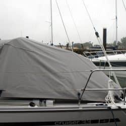 Bavaria Cruiser 33 Tonneau Cover, Zip attached to Sprayhood_3