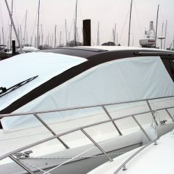 Sealine SC 47 Mesh Windscreen Covers in White_2