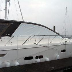 Sealine SC 47 Mesh Windscreen Covers in White_3