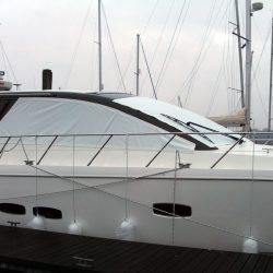 Sealine SC 47 Mesh Windscreen Covers in White_4