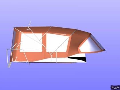 jeanneau sun odyssey 439 bimini conversion fitted to tecsew 10