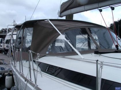 jeanneau sun odyssey 439 bimini conversion fitted to tecsew 3