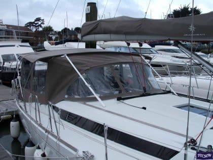 jeanneau sun odyssey 439 bimini conversion fitted to tecsew 4