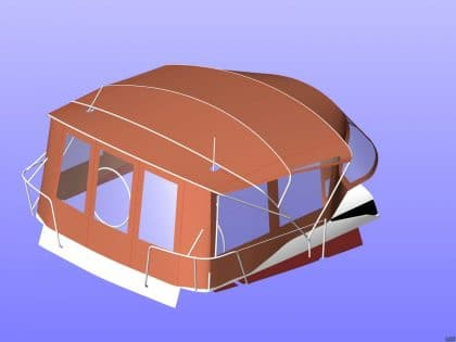 jeanneau sun odyssey 439 bimini conversion fitted to tecsew 6