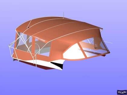jeanneau sun odyssey 439 bimini conversion fitted to tecsew 7