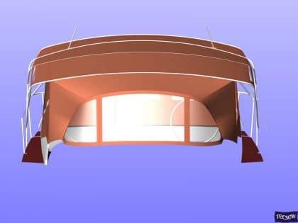jeanneau sun odyssey 439 bimini conversion fitted to tecsew 8