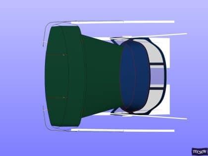 jeanneau sun odyssey 440 helm bimini and sprayhood connection panel 16