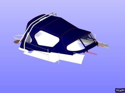 legend 36 cockpit enclosure with zip removable sides 8