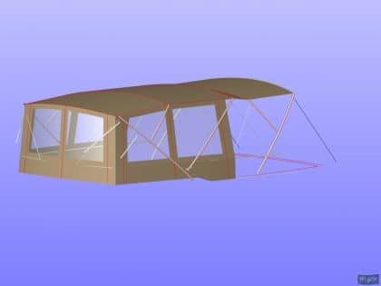 prestige 550 flybridge bimini recover 10