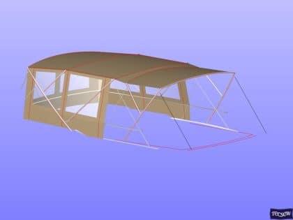 prestige 550 flybridge bimini recover 11