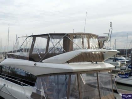 prestige 550 flybridge bimini recover 2