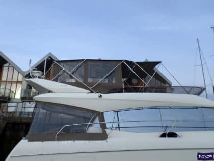 prestige 550 flybridge bimini recover 5