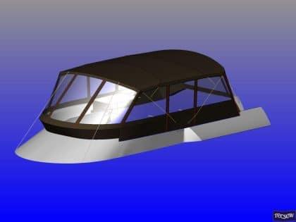 sealine f46 tecsew flybridge bimini and bimini conversion ref 5373 8