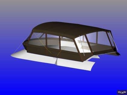 sealine f46 tecsew flybridge bimini and bimini conversion ref 5373 9