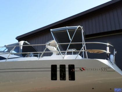 southerly 535 3 bar bimini with stretcher bars and welded grab bar 2