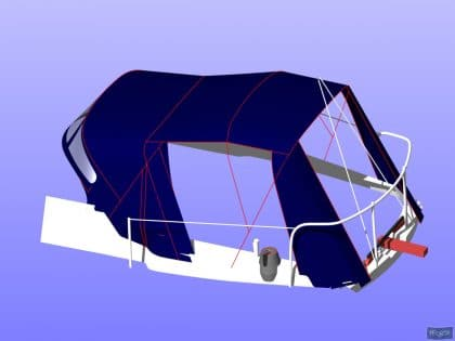 westerly griffon cockpit enclosure fitted to tecsew sprayhood 11