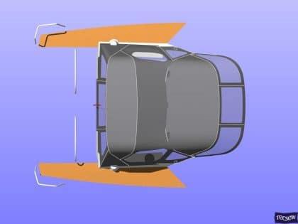 x43 cockpit enclosure to fit factory sprayhood 13