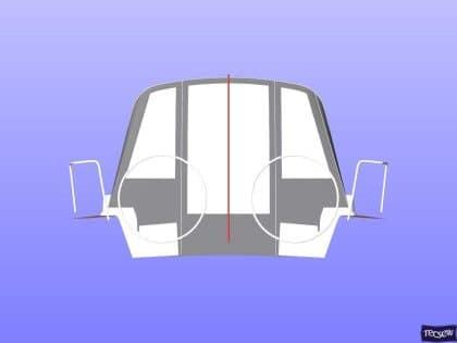x43 cockpit enclosure to fit factory sprayhood 15