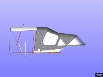 x43 cockpit enclosure to fit factory sprayhood 17