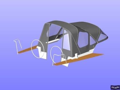 x43 cockpit enclosure to fit factory sprayhood 18