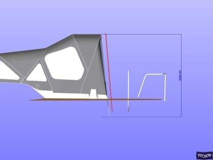 x43 cockpit enclosure to fit factory sprayhood 20