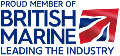 British Marine LOGO PROUD MEMBER TAG BOXED RGB