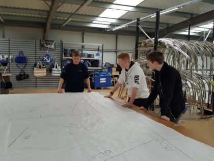 CAD Designer Owen with UTC Work Experience Students