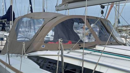 Jeanneau Sun Odyssey 349 Sprayhood recover and NEW Cockpit Enclosure c/w frameworks supplied as self-fit