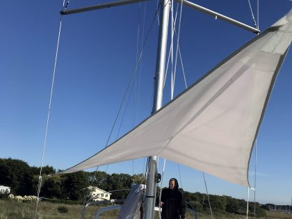Beneteau Oceanis 46.1 with ARCH Sun Awnings front