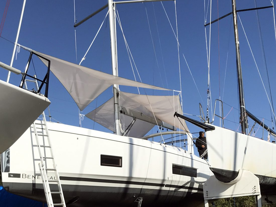 Beneteau Oceanis 46.1 with ARCH Sun Awnings