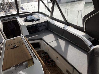 Beneteau Oceanis 51.1 model with NO ARCH, Cockpit Enclosure interior 1