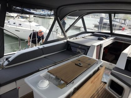 Beneteau Oceanis 51.1 model with NO ARCH, Cockpit Enclosure interior 2