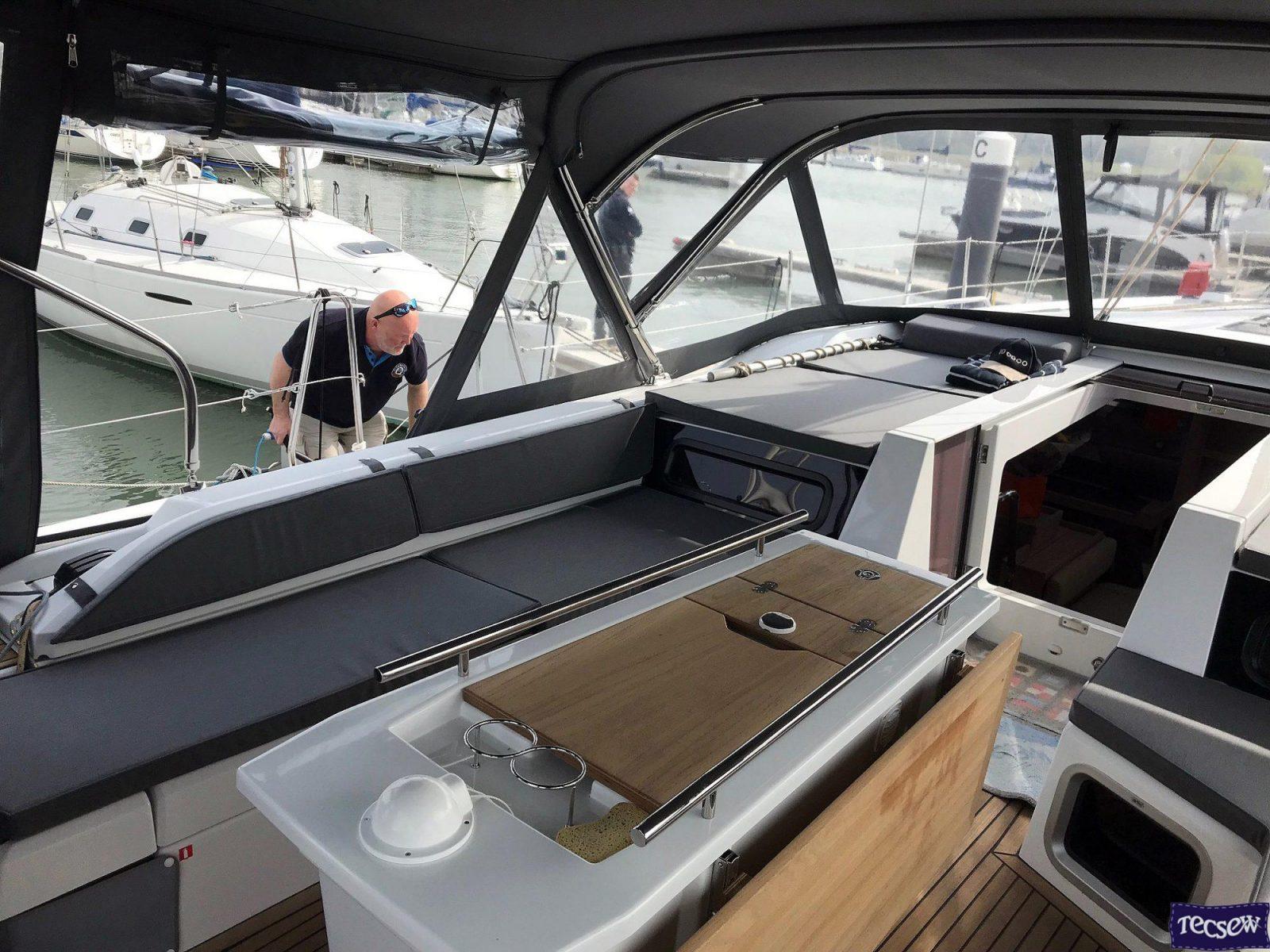 Beneteau Oceanis 51.1 model with NO ARCH, Cockpit Enclosure interior 2