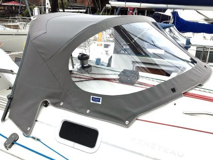 Beneteau First 31.7 Sprayhood with Grab Bar, 2019 higher design right front