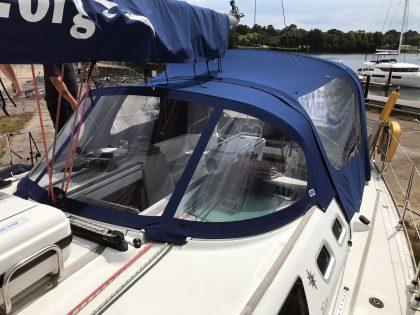Jeanneau Sun Odyssey 43, AMBITION, Cockpit Enclosure fits to Tecsew 2019 new design Sprayhood front 2