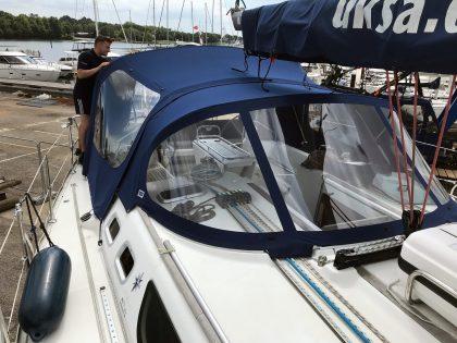 Jeanneau Sun Odyssey 43, AMBITION, Cockpit Enclosure fits to Tecsew 2019 new design Sprayhood front 1