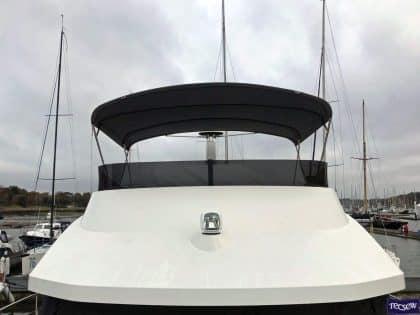 Beneteau Swift Trawler 47 Flybridge Bimini rear view