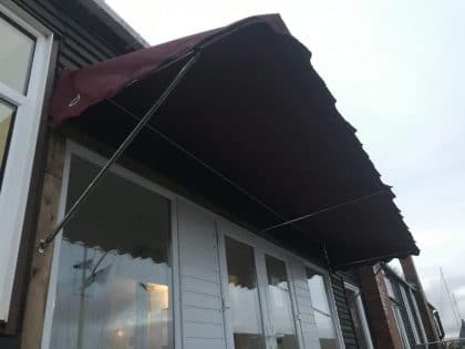 Entrance Awning, Hornet Sailing Club front view 1