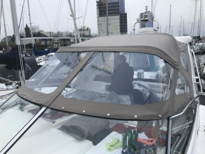 "Sealine S34 ""Easy Does It"", Replacement Cockpit Canopies, front view 2"