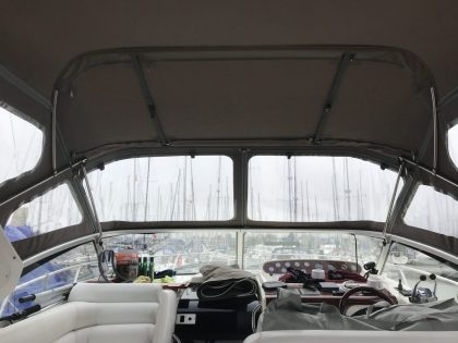 "Sealine S34 ""Easy Does It"", Replacement Cockpit Canopies, interior view 1"