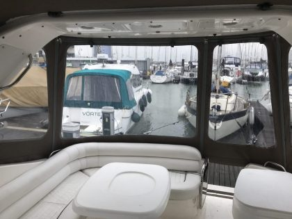 "Sealine S34 ""Easy Does It"", Replacement Cockpit Canopies, interior side view 1"