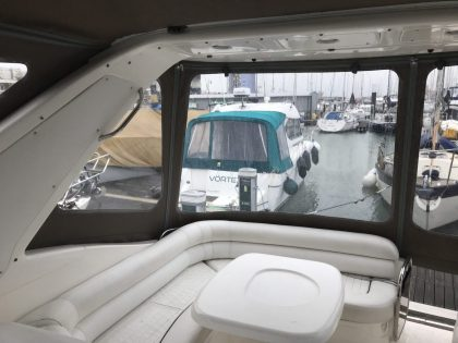 "Sealine S34 ""Easy Does It"", Replacement Cockpit Canopies, interior side view 2"
