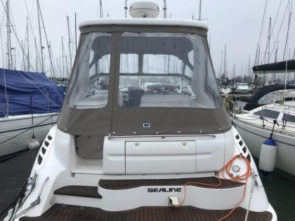 "Sealine S34 ""Easy Does It"", Replacement Cockpit Canopies, rear view 2"